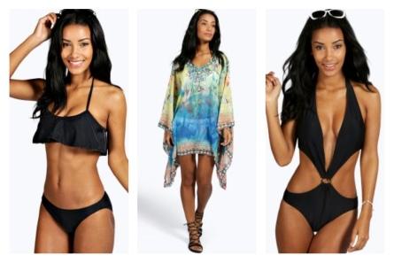 beachwear collage