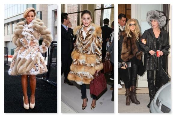celebrities in fur - LOATHE