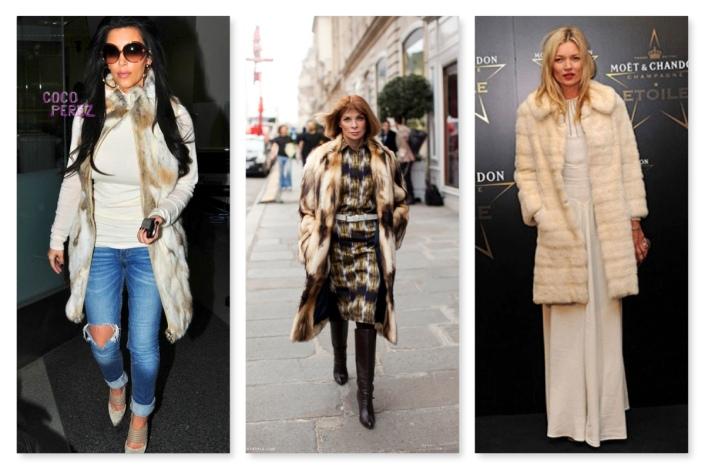 celebrities in fur - LOVE