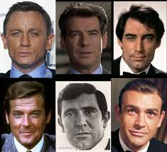 The faces of James Bond
