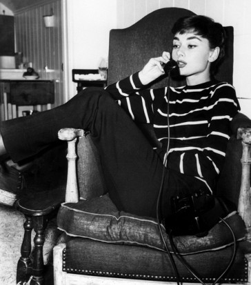 audrey hepburn in her stripes