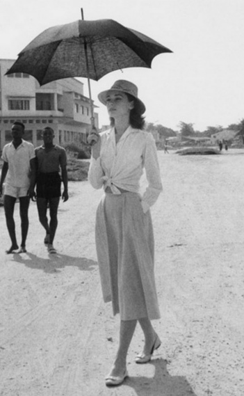 audrey hepburn in midi skirt