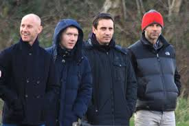 class of 92 on sidelines
