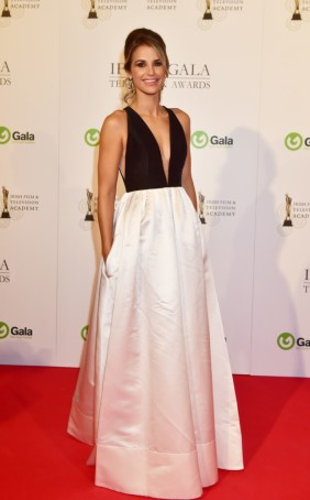 Vogue Williams arriving on the red carpet for the IFTA Gala Television Awards at the Double Tree by Hilton Hotel, Dublin. Photo by Michael Chester No Fee Pic