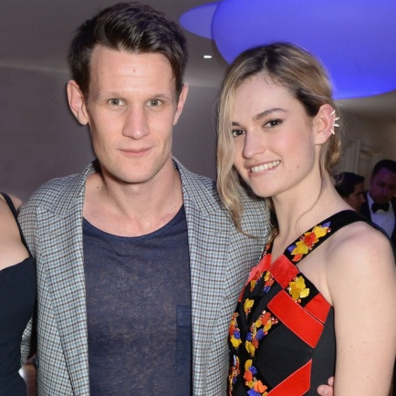 lily james and matt smith www.lifeandstylemag.com