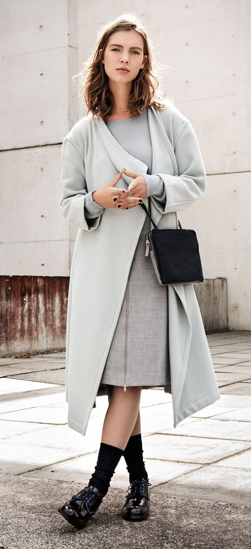 the edit drape front coat €189