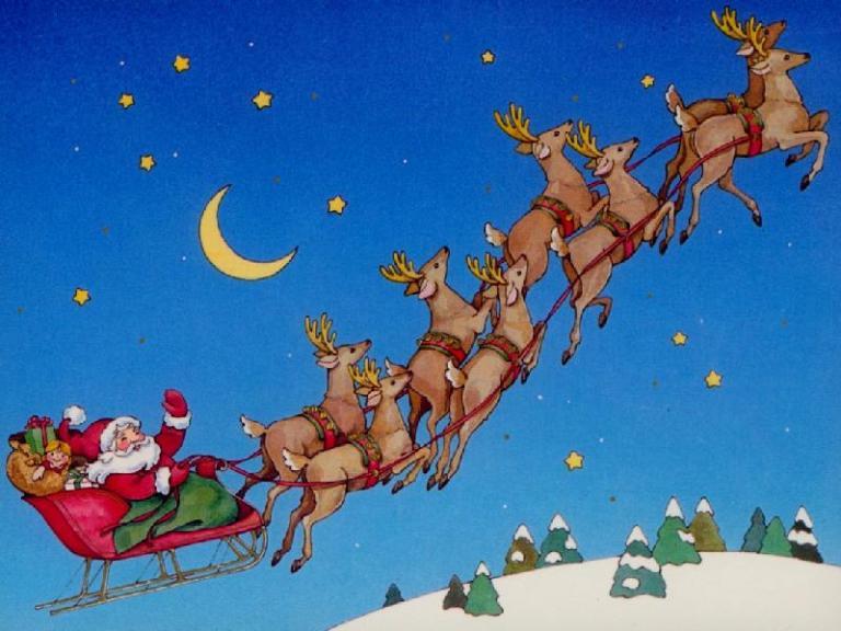 the oval creche santa and sleigh