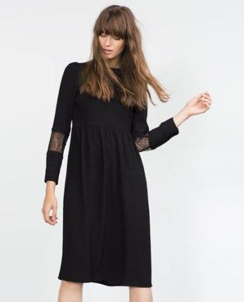 zara lace applique dress now €29.99