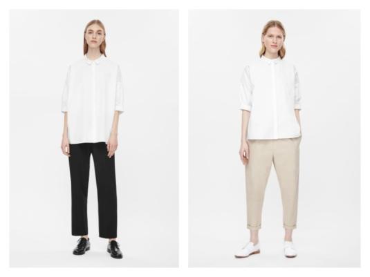 cos white shirt €59.99