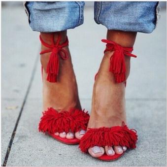 New-2016-Spring-Summer-Suede-Fringe-Sandals-Designer-Wild-Things-Women-High-Heels-Shoes-Tasseled-Gladiator