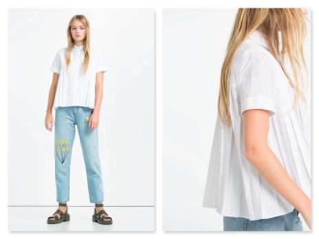 zara pleated shirt €25